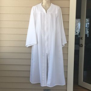 Graduation gown, white